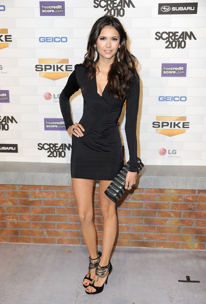 "Nina Dobrev Actress Nina Dobrev arrives at Spike TV's ""Scream 2010"" at The Greek Theatre on October 16, 2010 in Los Angeles, California."