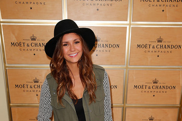 Nina Dobrev The Moet & Chandon Suite At The 2014 US Open - September 6