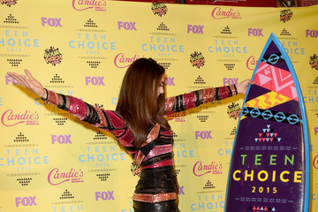 Nina Dobrev Stars Attend the Teen Choice Awards 2015
