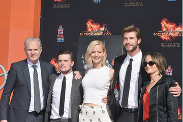 Nina Jacobson Liam Hemsworth Stars from Lionsgate's 'The Hunger Games: Mockingjay - Part 2' Hand and Footprint Ceremony