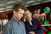 Actor/writers Josh Meyers (L) and Seth Meyers attend the Nintendo Lounge On The TV Guide Magazine Yacht At Comic-Con #TVGMYacht during San Diego Comic-Con International 2014 on July 26, 2014 in San Diego, California.