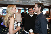 (L-R) Actress Jennifer Morrison, writer/producer Adam Horowitz and actor Colin O'Donoghue attend The Nintendo Lounge on the TV Guide Magazine yacht during Comic-Con International 2015 on July 11, 2015 in San Diego, California.