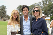 (L-R) Rachel Zoe, Nacho Figueras and Delfina Blaquier attend the Ninth-Annual Veuve Clicquot Polo Classic Los Angeles at Will Rogers State Historic Park on October 6, 2018 in Pacific Palisades, California.