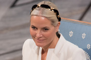 Crown Princess Mette-Marit of Norway attends the Nobel Peace Prize ceremony at Oslo City Town Hall on December 10, 2015 in Oslo, Norway.