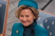 Queen Sonja of Norway attends the Nobel Peace Prize ceremony at Oslo City Town Hall on December 10, 2015 in Oslo, Norway.