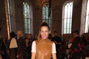 Alexandra Neldel attends the Nobi Talai fashion show during the Berlin Fashion Week Spring/Summer 2020 at Parochialkirche on July 04, 2019 in Berlin, Germany.