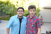 Rico Rodriguez and Nolan Gould attend his 16th birthday party held at Smogshoppe on October 26, 2014 in Los Angeles, California.