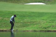 Thomas Aiken of South Africa plays his 3rd shot on the 4th hole during day four of the Nordea Masters at Hills Golf Club on August 19, 2018 in Gothenburg, Sweden.