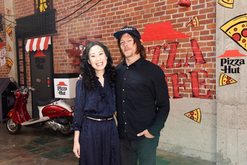 Norman Reedus Angela Kang Pizza Hut Lounge At 2019 Comic-Con International: San Diego