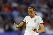 Jill Scott of England in action during the 2019 FIFA Women's World Cup France Quarter Final match between Norway and England at Stade Oceane on June 27, 2019 in Le Havre, France.