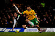 Chris Martin of Norwich City battles with Alan McCormack of Southend during the Coca Cola League One match between Norwich City and Southend United at Carrow Road on February 23, 2010 in Norwich, England.