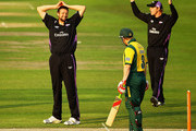 Steve Harmison of Durham looks on, after an appeal against Ali Brown goes against him during the Friends Provident T20 match between Nottinghamshire and Durham at Trent Bridge on June 25, 2010 in Nottingham, England.
