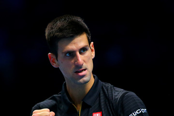 Novak Djokovic Barclays ATP World Tour Finals: Day 6