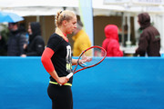 Training session of Sabine Lisicki of Germany during Day Three of the Nuernberger Versicherungscup 2016 on May 16, 2016 in Nuremberg, Germany.
