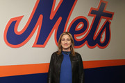 'Nurse Jackie' Star Edie Falco Throws Out The First Pitch At The New York Mets Game