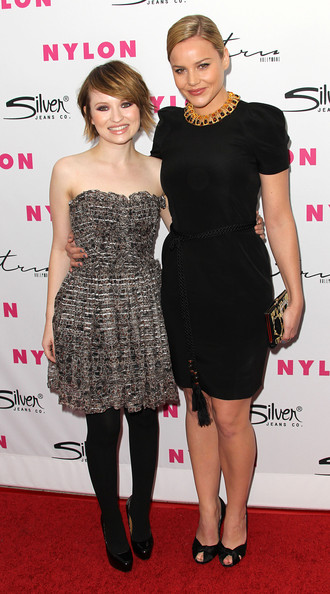 "Actresses Emily Browning (L) and Abbie Cornish attend Nylon Magazine 12th Anniversary Issue Party with the ""Sucker Punch"" cast at Tru Hollywood on March 24, 2011 in Hollywood, California."