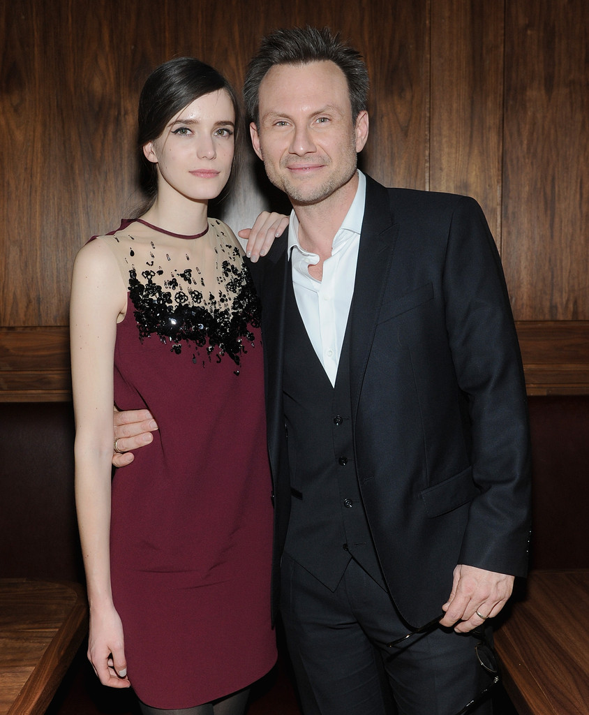 Christian Slater and Stacy Martin s s Zimbio