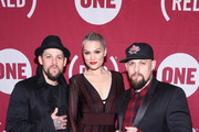 (L-R)  Artists Joel Madden, Jessie J, and Benji Madden attend the ONE Campaign and (RED)'s concert to mark World AIDS Day, celebrate the incredible progress that's been made in the fights against extreme poverty and HIV/AIDS, and to honor the extraordinary leaders, dedicated activists, and passionate partners who have made that progress possible. At Carnegie Hall on December 1, 2015 in New York City.