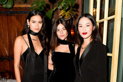 Juana Burga, Julia Restoin Roitfeld and Nicole Warne attends THE OUTNET celebrates Julia Restoin Roitfeld for Iris & Ink launch dinner at The Waverly Inn on October 15, 2019 in New York City.