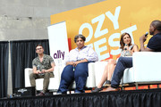 Christian Siriano, Roxane Gay, and Isaac Mizrahi speak onstage during OZY Fest 2018 at Rumsey Playfield, Central Park on July 21, 2018 in New York City.