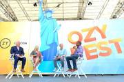 (L-R) Karl Rove, Chelsea Handler, Tom Steyer and Carlos Watson speak onstage during OZY Fest 2018 at Rumsey Playfield, Central Park on July 22, 2018 in New York City.