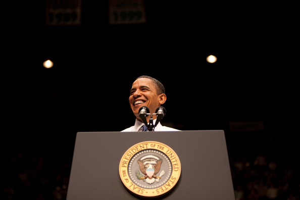 U.S. President Barack Obama speaks on health care reform at George Mason University March 19, 2010 in Fairfax, Virginia. Obama is making a last minute appeal for support of his proposed health care legislation as the U.S. House of Representatives is expected to vote on the legislation as early as Sunday afternoon March 21.