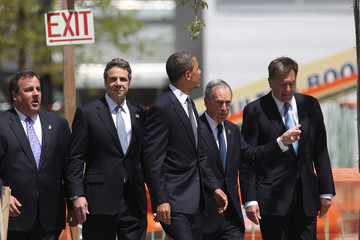 Andrew Cuomo Chris Christie Obama Attends Wreath-Laying Ceremony At Ground Zero After Death Of Bin Laden