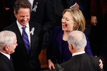 Hillary Clinton Robert Gates Obama Delivers State Of The Union Address To Joint Session Of Congress