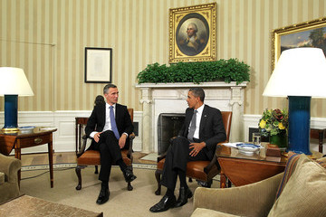 Barack Obama Jens Stoltenberg Obama Meets With Norwiegan Prime Minister Stoltenberg At White House