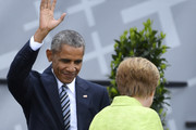 Barack Obama and Angela Merkel Photos Photo