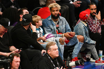 Odell Beckham Jr Celebrities At The 67th NBA All-Star Game: Team LeBron Vs. Team Stephen