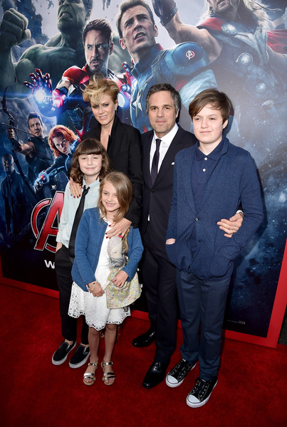 Premiere Of Marvel's 'Avengers: Age Of Ultron' - Red Carpet [avengers: age of ultron,red carpet,people,premiere,event,carpet,red carpet,photography,flooring,suit,fictional character,art,mark ruffalo,keen ruffalo,odette ruffalo,sunrise coigney,bottom l-r,top l-r,marvel,premiere]