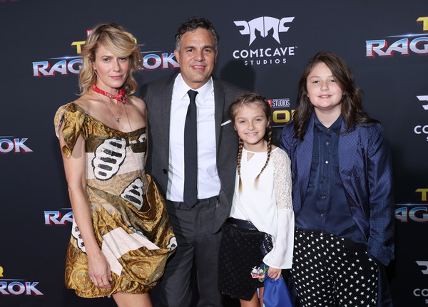 The World Premiere of Marvel Studios' 'Thor: Ragnarok' [thor: ragnarok,event,premiere,carpet,fashion design,flooring,actors,bella noche ruffalo,odette ruffalo,mark ruffalo,sunrise coigney,l-r,el capitan theatre,world premiere of marvel studios,the world premiere]