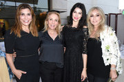 Jo Champa, Susan Rockefeller, Linda Collins and Anastasia Soare attend Ohana & Co LA Event - Brands With Mission at The Peninsula Beverly Hills on August 23, 2018 in Beverly Hills, California.