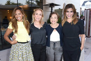 Jennifer Wangers, Susan Rockefeller, Barbara Cohn and Jo Champa attend Ohana & Co LA Event - Brands With Mission at The Peninsula Beverly Hills on August 23, 2018 in Beverly Hills, California.