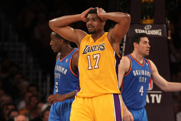 Andrew Bynum Oklahoma City Thunder v Los Angeles Lakers - Game Four