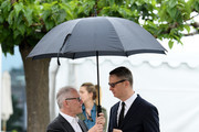 """General Delegate Thierry Fremaux and Nicolas Winding Refn attend the """"Too Old To Die Young"""" photocall during the 72nd annual Cannes Film Festival on May 18, 2019 in Cannes, France."""