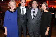 "(L-R) Author Elizabeth Strout, actor Cory Michael Smith, President of HBO Miniseries Kary Antholis and actress Audrey Marie Anderson attend the ""Olive Kitteridge"" New York Premiere After Party at the Altman Building on October 27, 2014 in New York City."