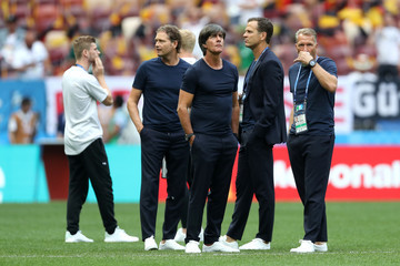 Oliver Bierhoff Joachim Loew Germany vs. Mexico: Group F - 2018 FIFA World Cup Russia