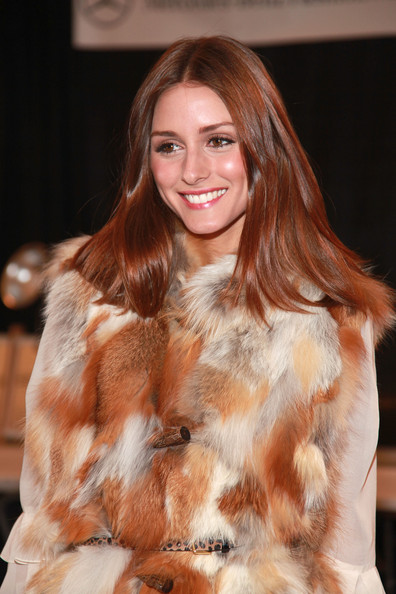 olivia palermo fashion. Olivia Palermo poses backstage