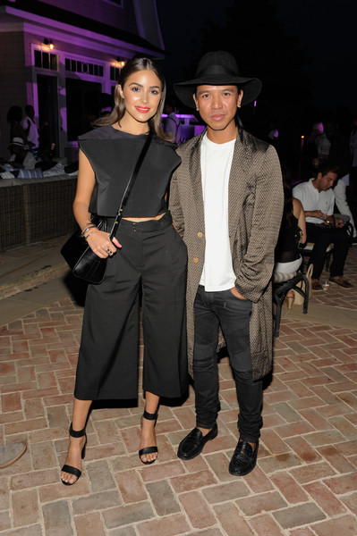 The REVOLVE Summer Party in the Hamptons Sponsored by DeLeon Tequila [clothing,fashion,event,fedora,dress,fashion design,hat,little black dress,outerwear,fashion model,michael mente,olivia culpo,deleon tequila,hamptons,sagaponack,new york,summer party,hamptons house]