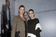 Lauren Remington Platt and the designer pose at the Olivia Palermo Collection presentation during New York Fashion Week: The Shows on February 12, 2020 in New York City.