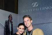 Olivia Palermo and RJ King pose at the Olivia Palermo Collection presentation during New York Fashion Week: The Shows on February 12, 2020 in New York City.