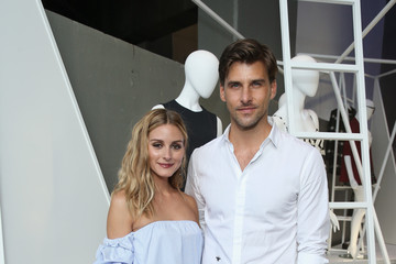 Olivia Palermo Johannes Huebl Guests Attend the StyleWatch x Revolve Fall Fashion Party