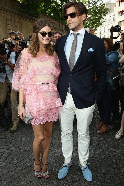 Olivia Palermo Olivia Palermo and Johannes Huebl attend  the Valentino Haute-Couture Show as part of Paris Fashion Week Fall / Winter 2012/2013 at Hotel Salomon de Rothschild on July 4, 2012 in Paris, France.