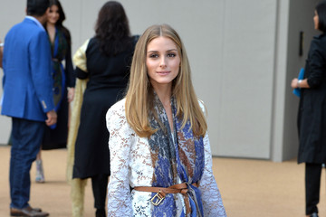 Olivia Palermo Arrivals at Burberry Prorsum