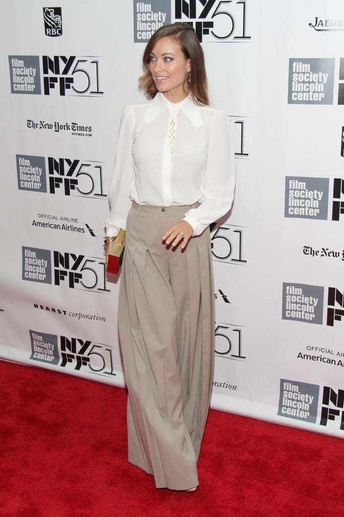 Olivia Wilde Schools Us on How to Wear Wide-Leg Pants
