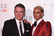 Shane Richie and Layton Williams during The Olivier Awards with Mastercard at the Royal Albert Hall on April 07, 2019 in London, England.