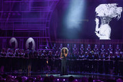 Beverley Knight performs on stage during The Olivier Awards 2019 with Mastercard at the Royal Albert Hall on April 07, 2019 in London, England.