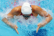 Rebecca Soni of the United States competes in heat 5 of  the Women's 200m Breaststroke on Day 5 of the London 2012 Olympic Games at the Aquatics Centre on August 1, 2012 in London, England.
